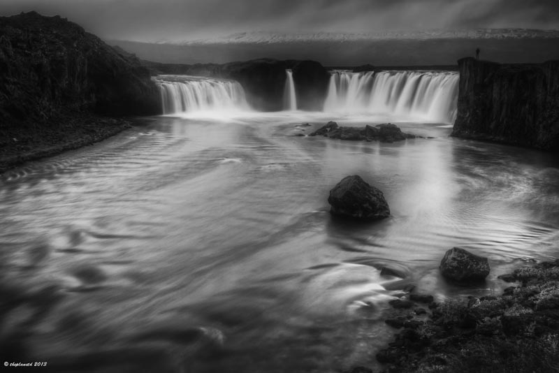 black and white iceland pics godafoss waterfall