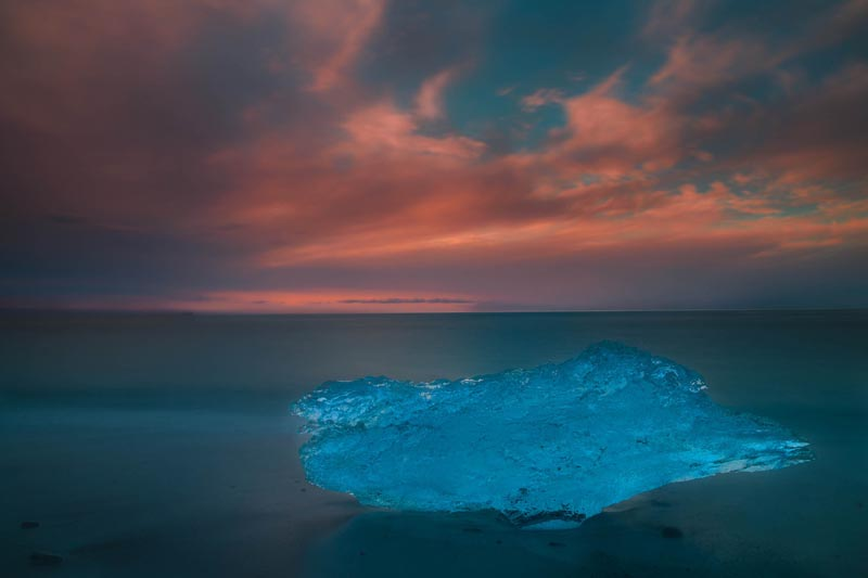 iceland images jokulsarlon glacier lagoon sunset