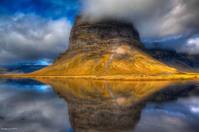 iceland pictures landscape roadside reflection
