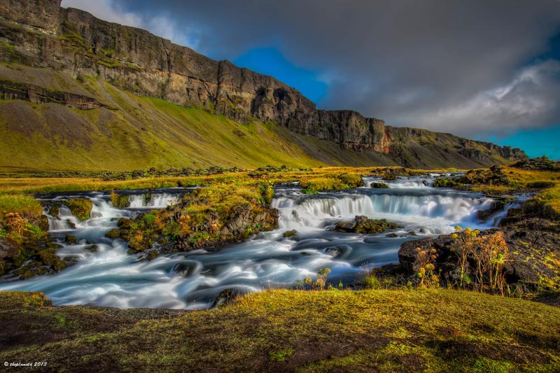 beautiful pictures of iceland barnafoss waterfall