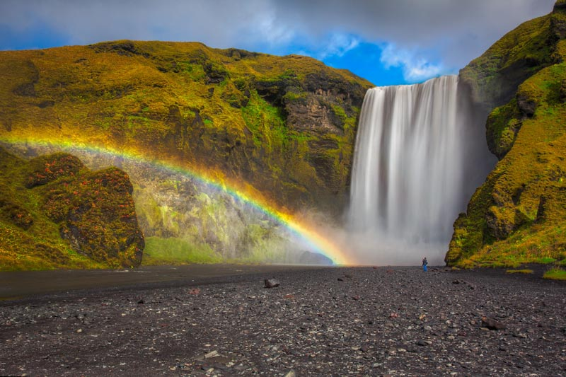 iceland photos skogafoss waterfall