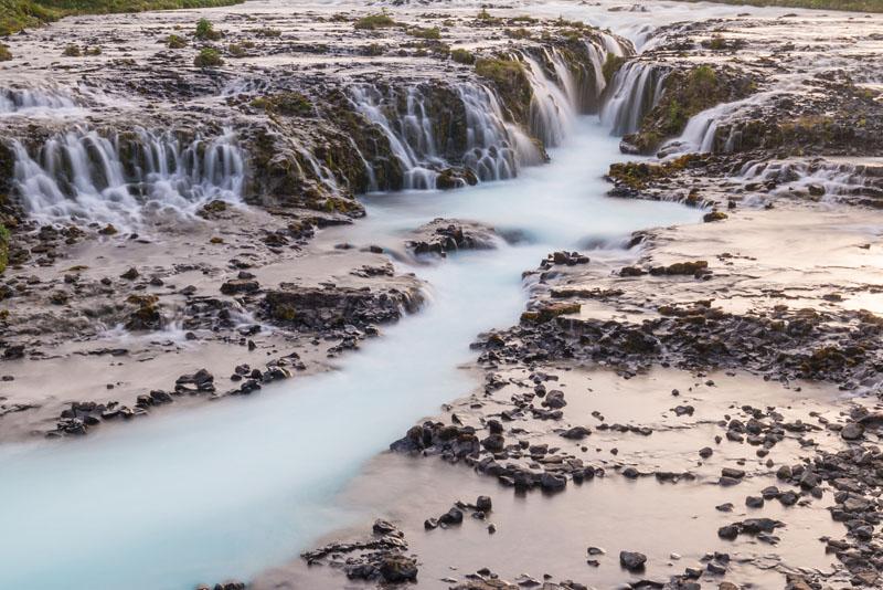 Bruarfoss falls in iceland