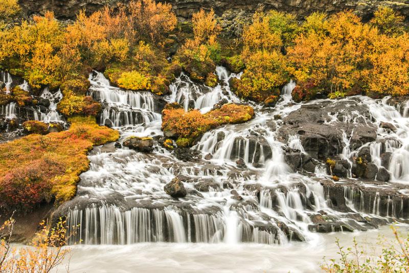 Hraunfossar iceland water falls