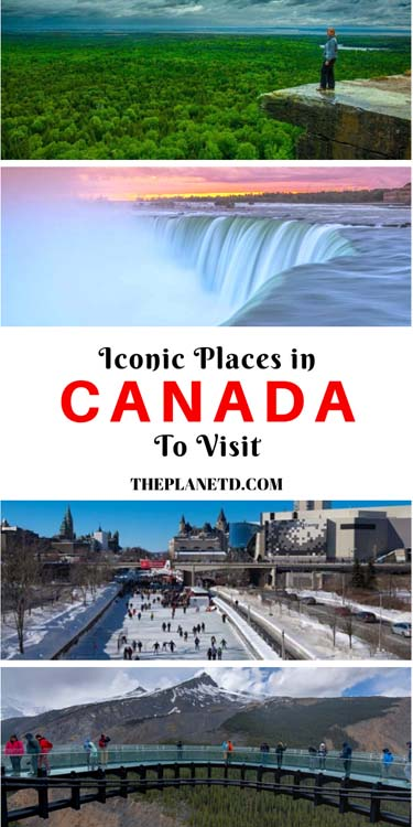 iconoic places to visit in canada