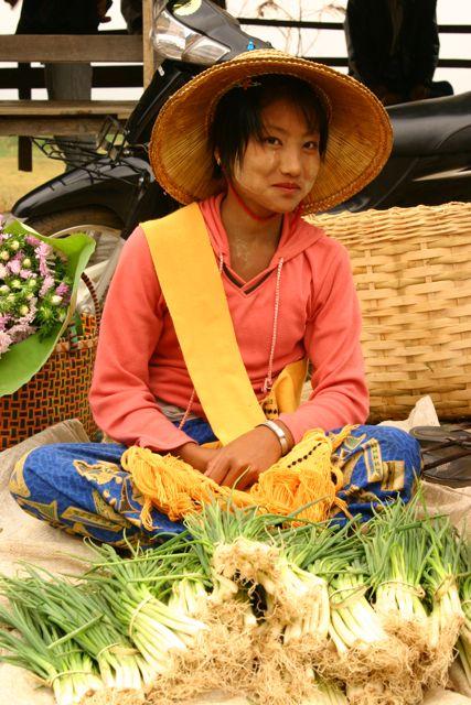 A Happy Vendor at the Market