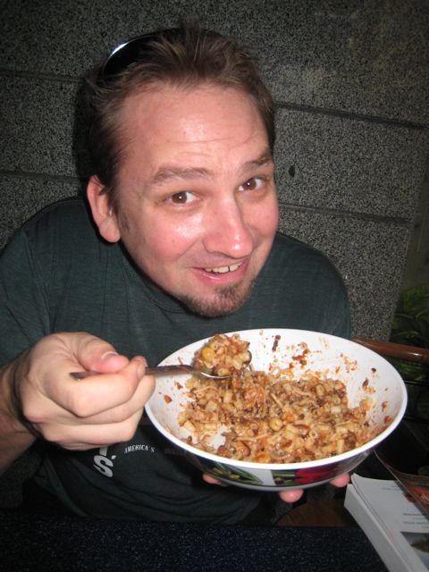 eating kashini in Cairo