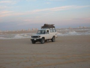 Our Jeep in the White Desert, Egypt