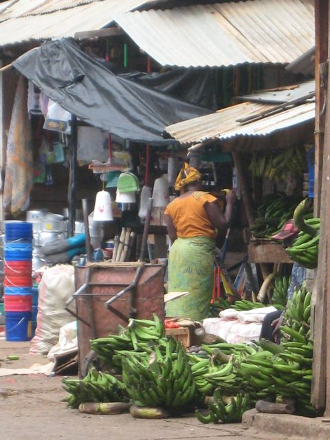 A Market in Moshi, Tanzania