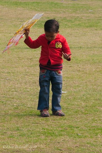 Little boy at Kite Festival in india