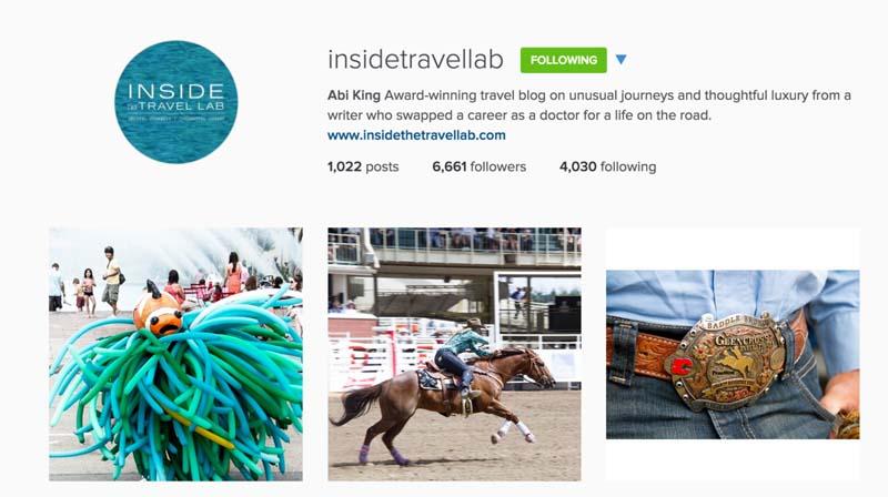 top instagram in travel