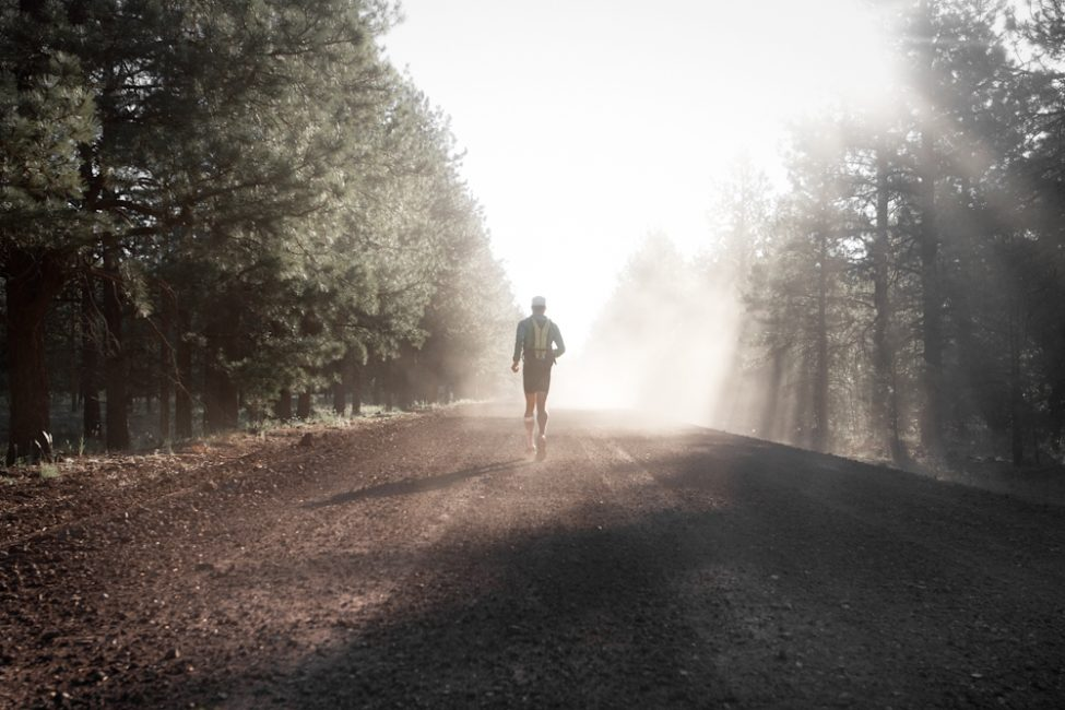 inspirational travel man running