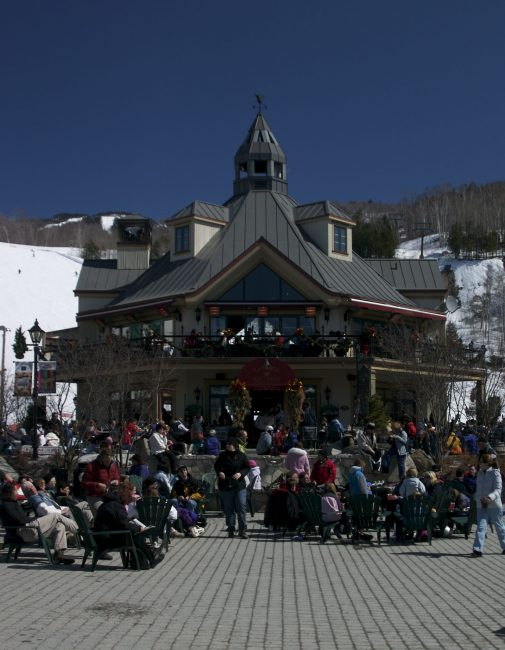 The main square of Mont Tremblant