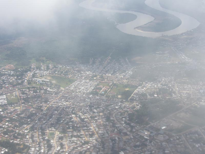 view of iquitos when landing