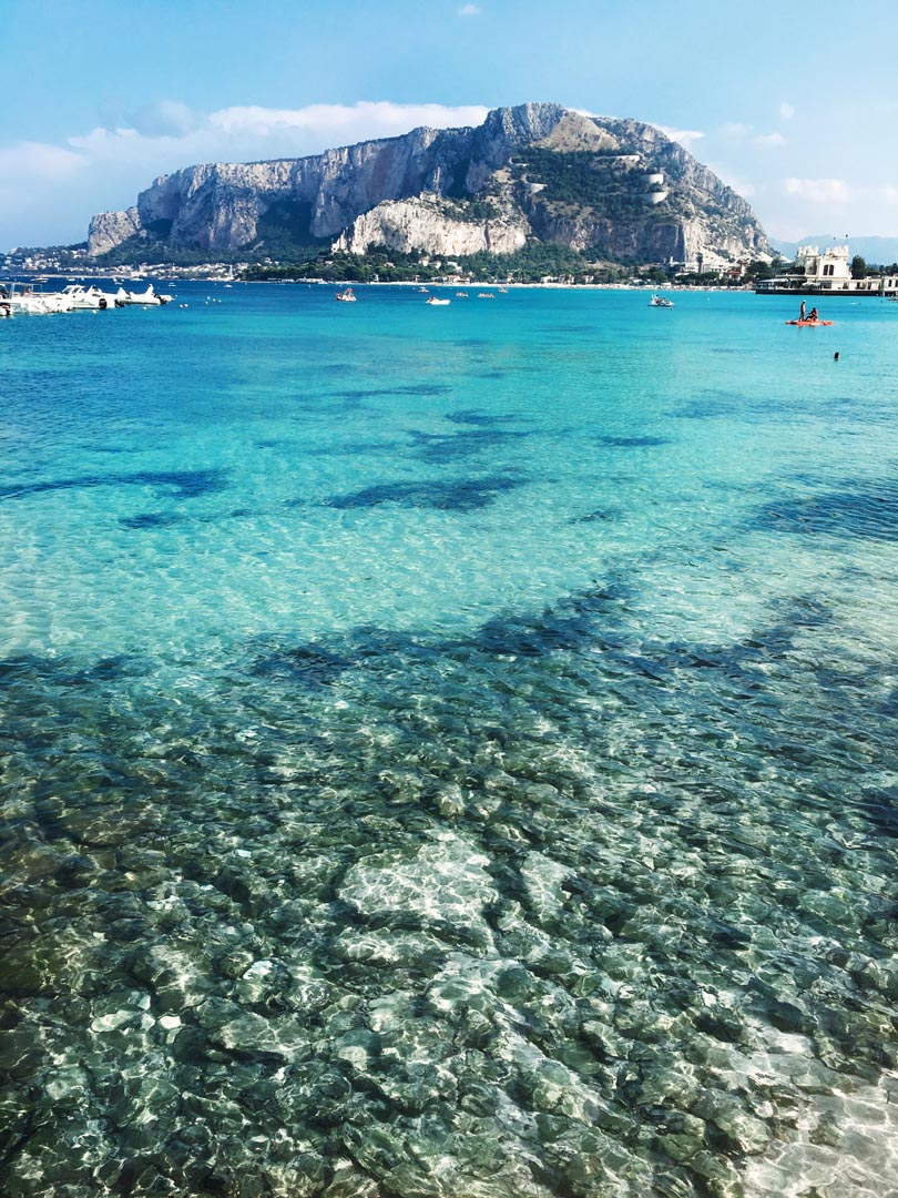 italian coastal resorts sicily mondello beach