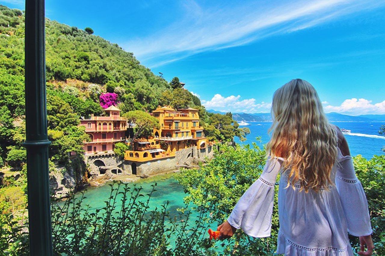 italian riviera town portofino