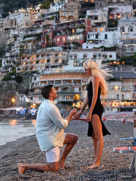 italian coastal towns positano engagment