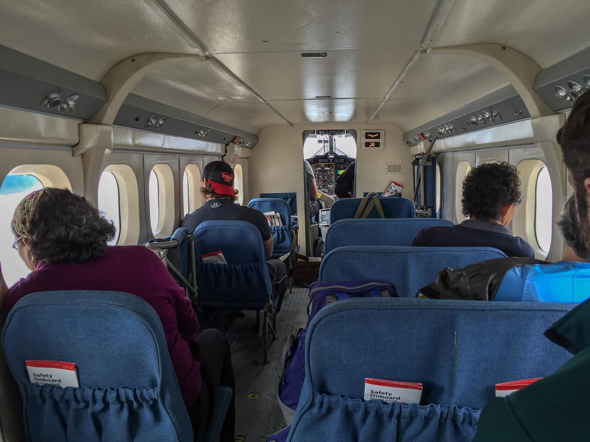 inside our plane to ivavik np