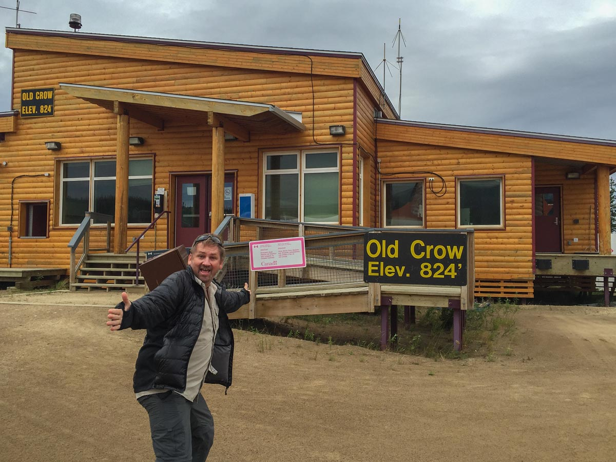 flight to northern canada stop at Old Crow