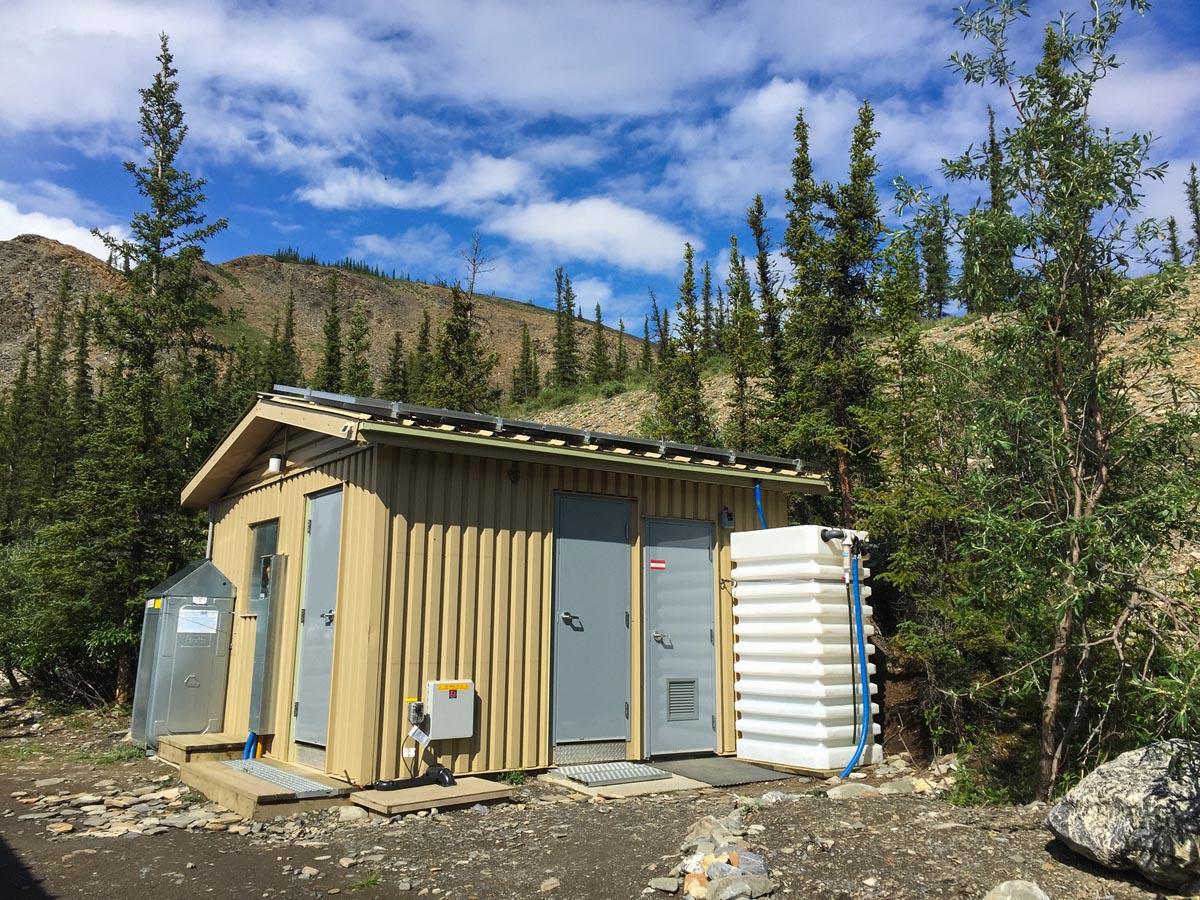 parks canada yukon modern toilets