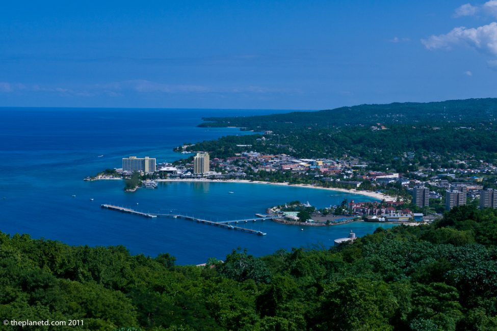Arial View of Ocho Rios Jamaica