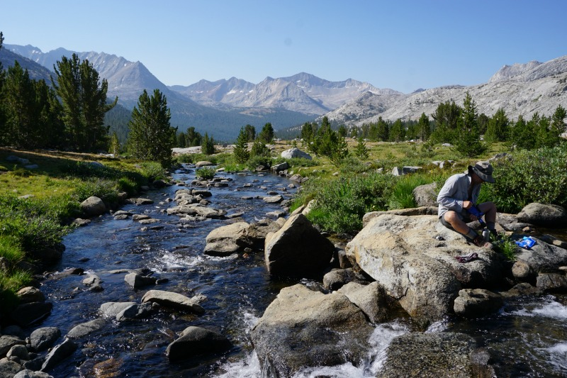 john muir trail hiking and water purification