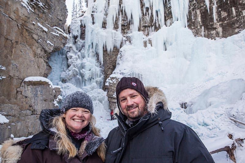 winter activities in alberta | johnston canyon
