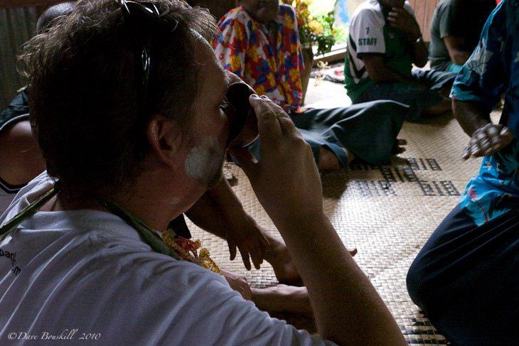 kava ceremony in fiji - drinking kava