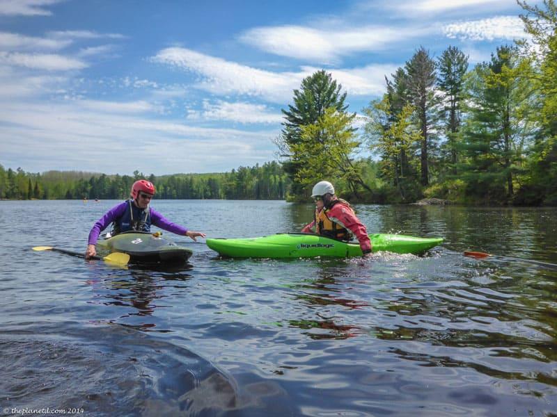 kayaking course resting