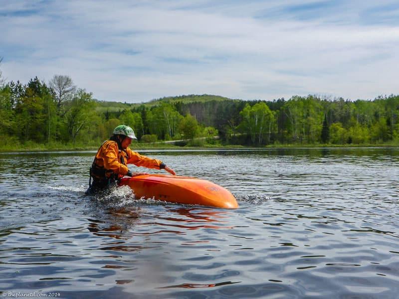 kayaking course rolling
