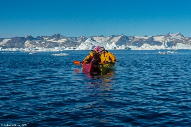 Dave with our expert kayaking guide Val in Greenland
