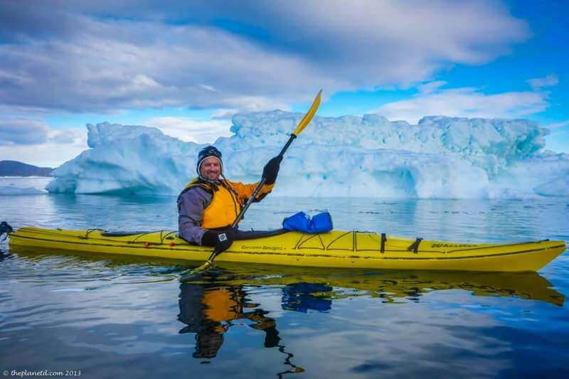 Dave kayaking in Greenland