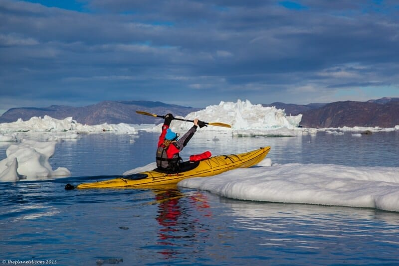 kayaking in Greenland Deb gains confidence