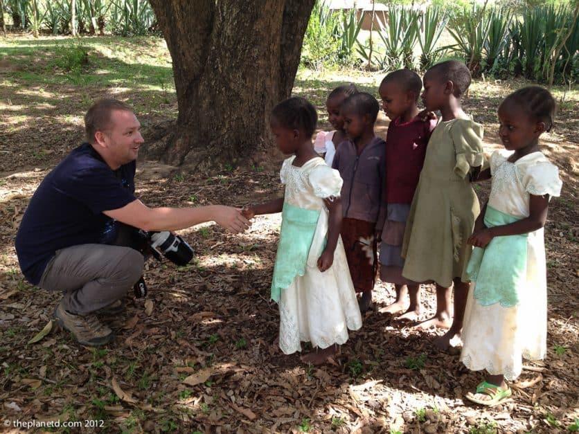 kenya village visit with children