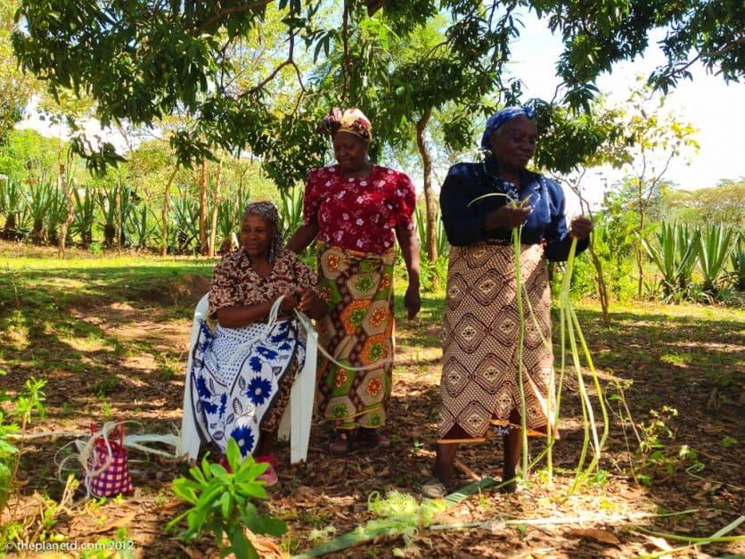 women of a rural village in Kenya