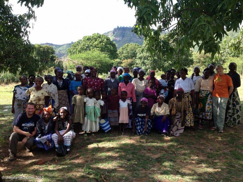 a village visit in kenya