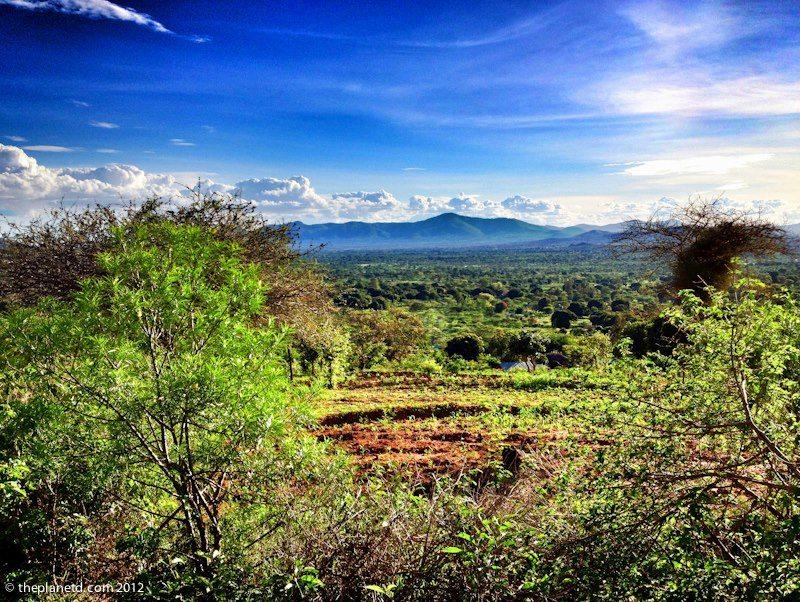 view from kenya village