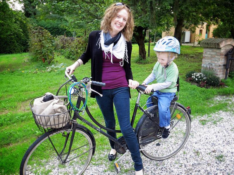 kids inspiring mom travel bike
