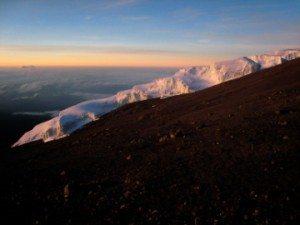mount kilimanjaro glacier in Tanzania Africa