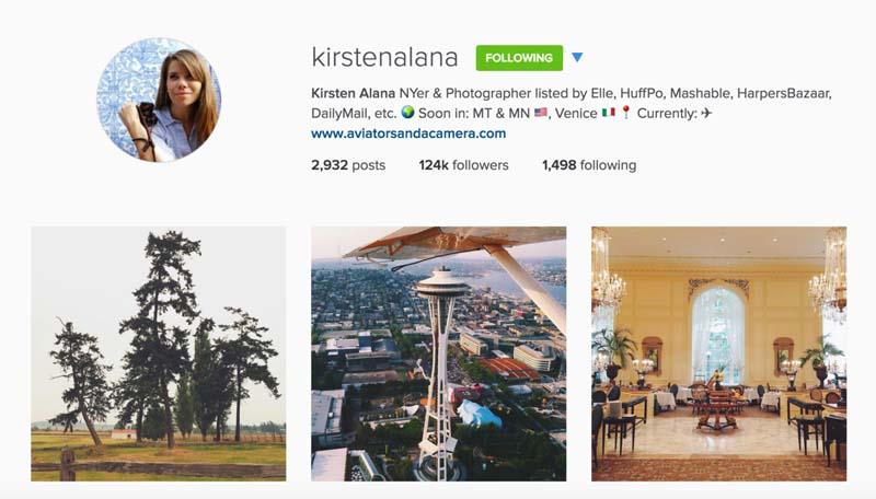 travel instagram photographer kirsten alana