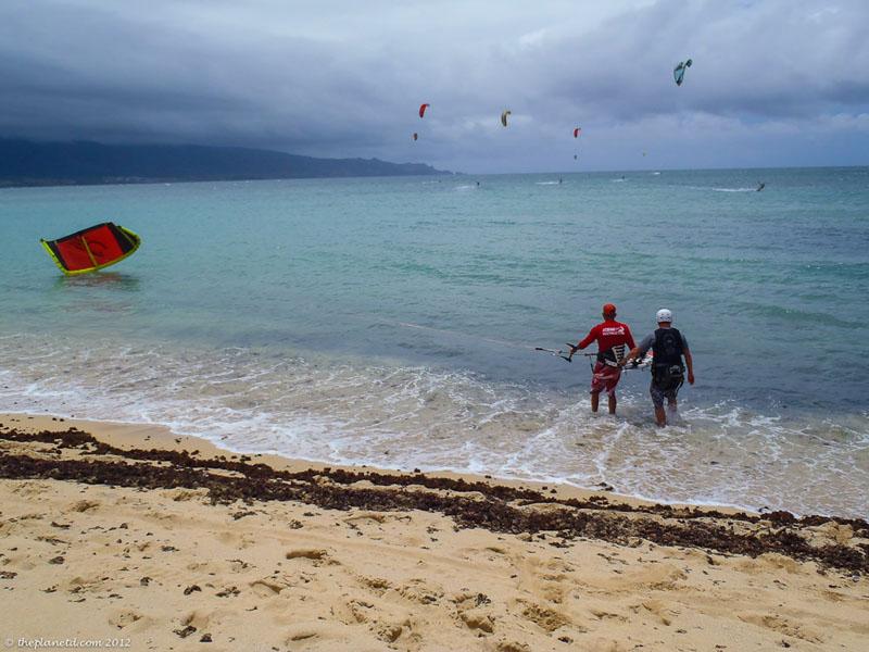 kite boarding maui ocean