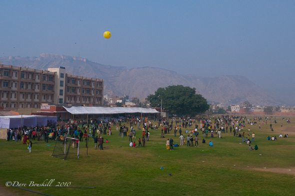 crowd at stadium of kite festival jaipur