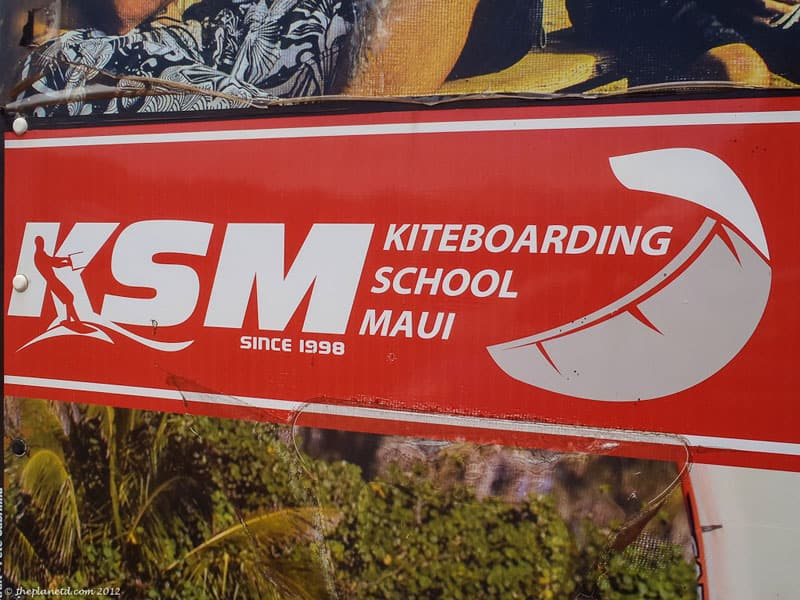 kiteboarding maui sign