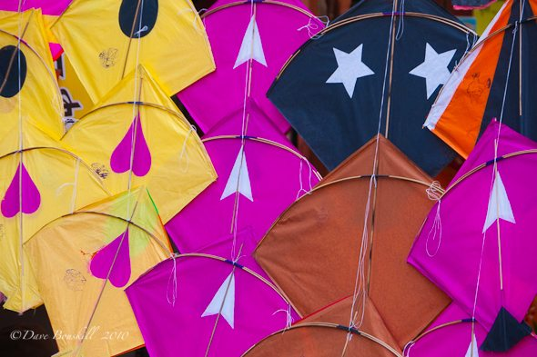 colourful kites for sale at festival in India