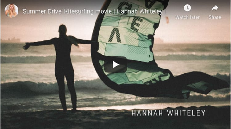 kitesurfing cape town movie | summerdrive with hannah whiteley