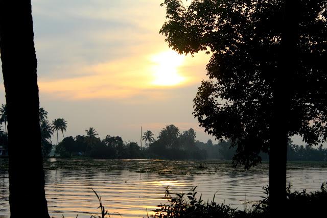 kumarakom houseboat sunrise