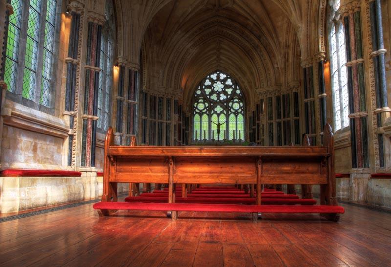 interior of church kylemore abbey
