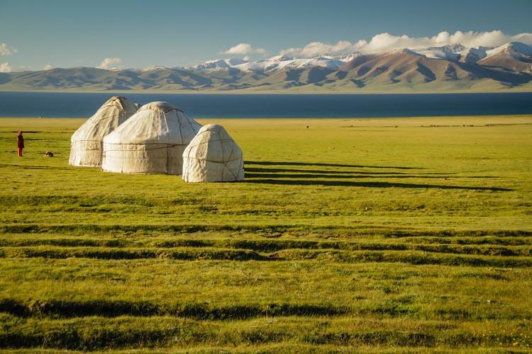 yurts in kyrgyzstan   travel