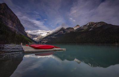 lake louise canoe | banff alberta