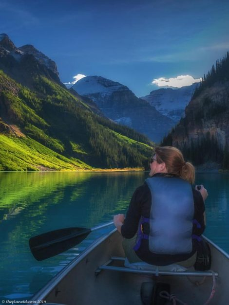 canoe lake louise | deb paddling