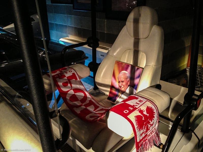 Lamborghini Museum Pope cart